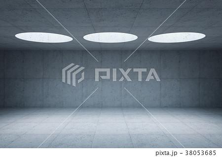 blank concrete space interior, 3d rendering 38053685