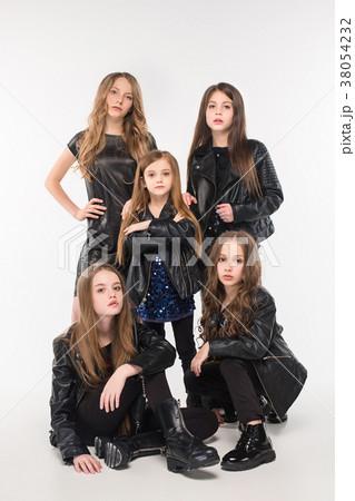 Studio portrait of young attractive caucasian teen 38054232