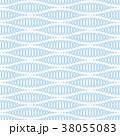 シームレス ウェイブ バックグラウンドのイラスト 38055083