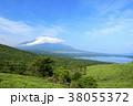風景 富士山 湖の写真 38055372