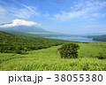 風景 富士山 湖の写真 38055380