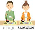 若いカップル  食事 38058389