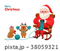 Present Delivery Santa Claus concept Vector Illustration, Christmas and New Year Banner. 003 38059321