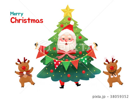 Present Delivery Santa Claus concept Vector Illustration, Christmas and New Year Banner. 005 38059352