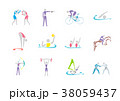 Simple linear pictogram, Olympic concept set 003 38059437