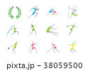 Simple linear pictogram, Olympic concept set 002 38059500