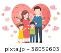 イラスト ファミリー 家庭のイラスト 38059603