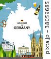Traveling Overseas - vector 38059685
