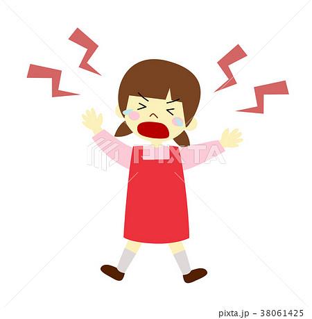 女の子 泣き叫ぶ 38061425