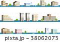 洪水 自然災害 街のイラスト 38062073