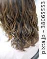 ボケ 髪 髪の毛の写真 38065553