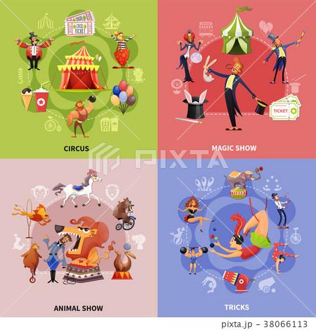Circus Cartoon Concept 38066113