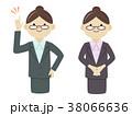 女性 人物 スーツのイラスト 38066636