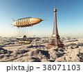 空想的 飛行船 エッフェルのイラスト 38071103