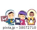 動物 カラフル 多彩のイラスト 38072710