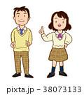 学生 生徒 制服のイラスト 38073133