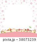 街並み 桜 春のイラスト 38073239