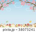 街並み 桜 春のイラスト 38073241