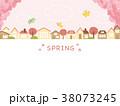 街並み 桜 春のイラスト 38073245