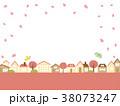 街並み 桜 春のイラスト 38073247