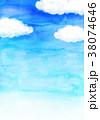 青空 水彩 背景素材のイラスト 38074646