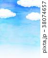 青空 水彩 背景素材のイラスト 38074657