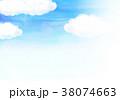 青空 水彩 背景素材のイラスト 38074663
