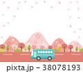 春 桜 並木道のイラスト 38078193