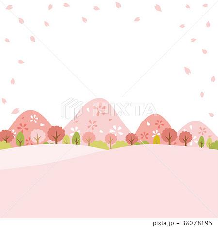 春の郊外の風景 38078195
