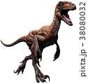 恐竜 デイノニクス 爬虫類のイラスト 38080032