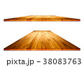 Empty wooden table with clipping mask 38083763