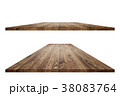 Empty wooden table with clipping mask 38083764