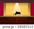 ホールとピアノ(スポットライト) 38085314