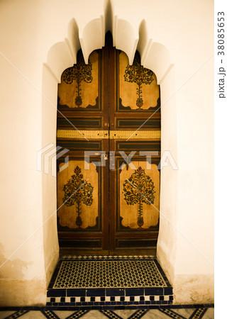 モロッコ マラケシュ ドア アンティーク モロッコデザイン アラビック模様 モロッコインテリア 38085653