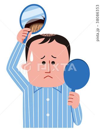 薄毛に悩む男性 38086353