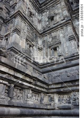 世界遺産 プランバナン寺院 レリーフ インドネシア ジャワ島 ジョグジャカルタ 38086464