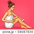 ポップアート 女性 脱毛のイラスト 38087830