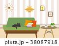 リビング リビングルーム ソファーのイラスト 38087918