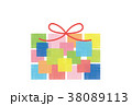 素材- BIRTHDAYカード2(文字なし) 38089113