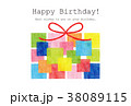 素材-BIRTHDAYカード2(テクスチャ) 38089115