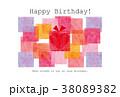 素材-BIRTHDAYカード3(テクスチャ) 38089382