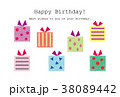 素材- BIRTHDAYカード1 38089442