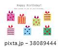 素材-BIRTHDAYカード1(テクスチャ) 38089444