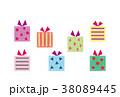 素材-BIRTHDAYカード1(文字なし) 38089445