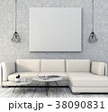 mock up poster frame interior living room,3drender 38090831