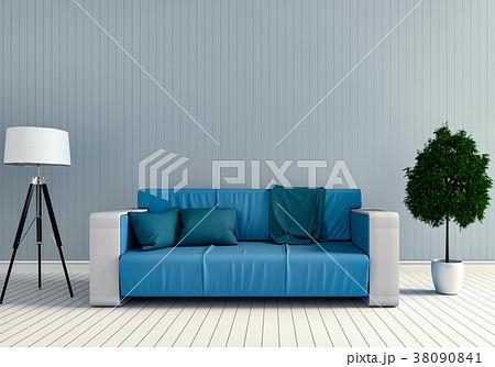 3D rendering of interior modern living room  38090841