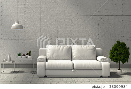 3D rendering of interior modern living room  38090984