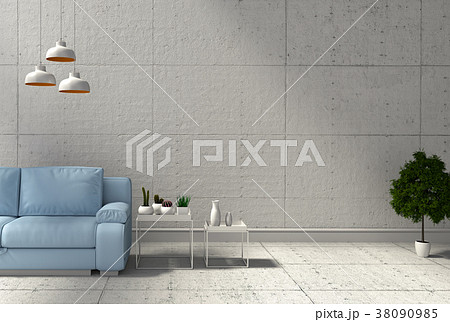 3D rendering of interior modern living room  38090985