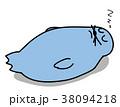 睡眠中のアザラシのイラスト 38094218