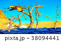 Egg and pterodactyl 3d rendering 38094441